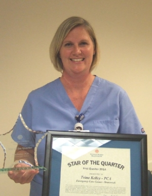 Trina Kelley, PCA Receives Star of the Week